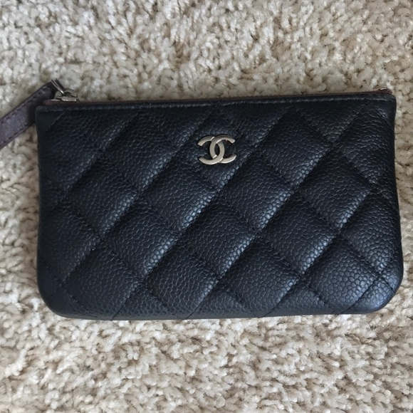 824040be1054 CHANEL Handbags - Chanel Small O Caviar Card Case pouch